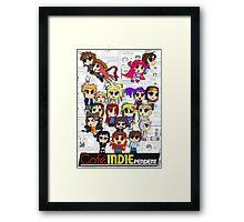 Cafe Indie Chibi Group Framed Print
