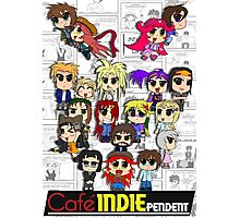 Cafe Indie Chibi Group Photographic Print