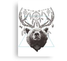 Deer Bear Canvas Print
