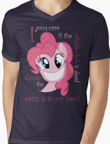 Pinkie Pie Party in my Head Mens V-Neck T-Shirt