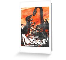 Dinosaurus poster Greeting Card