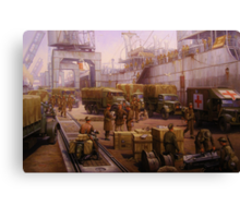 The 52nd Lowland at Cherbourg 1940 Canvas Print