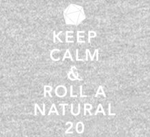 Keep Calm and Roll a Natural 20 One Piece - Long Sleeve