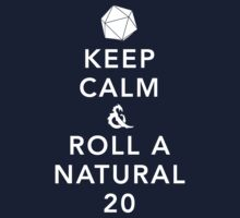 Keep Calm and Roll a Natural 20 Kids Clothes