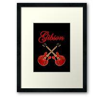 Wonderful Red Gibson ES Framed Print