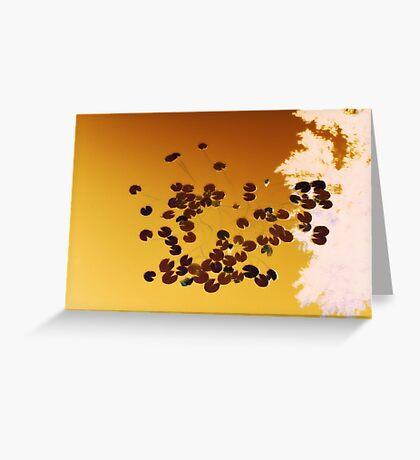 Orange 8-bit Greeting Card