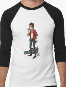 Keith Richards Cartoon Tshirt Men's Baseball ¾ T-Shirt