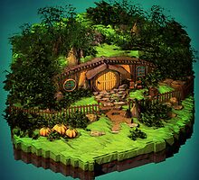 Lord of the Rings - The Hobbit - Shire by Neil Stratford