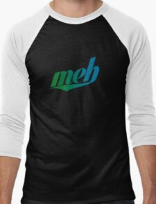 meh - Swoosh style - Green/blue Men's Baseball ¾ T-Shirt