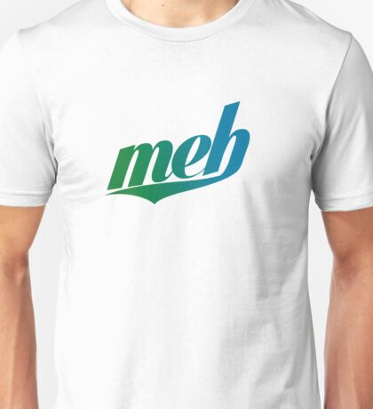 meh - Swoosh style - Green/blue Unisex T-Shirt