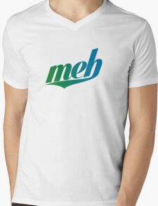 meh - Swoosh style - Green/blue Mens V-Neck T-Shirt