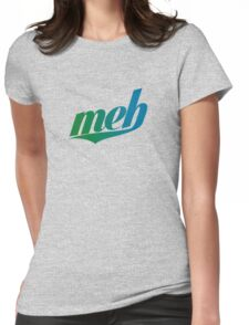 meh - Swoosh style - Green/blue Womens Fitted T-Shirt