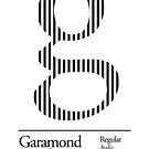 The Letter G Garamond Type by sub88