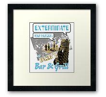 Dalek's Bar & Grill Framed Print