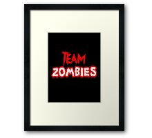 Team Zombies Scary Framed Print
