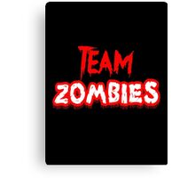 Team Zombies Scary Canvas Print