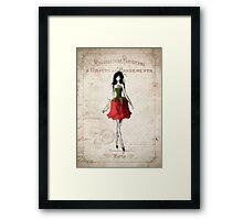 Lady in Red (Rose) Framed Print