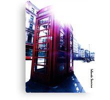 london in love telephone Canvas Print