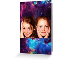 Lindsey Lohan child star the parent trap Greeting Card