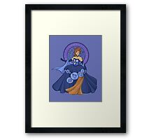 Gallifreyan Girl Framed Print
