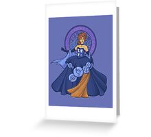 Gallifreyan Girl Greeting Card