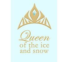 Queen of the Ice and Snow Photographic Print