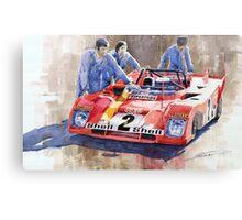 Ferrari 312 PB 1972 Daytona 6-hour winning  Canvas Print