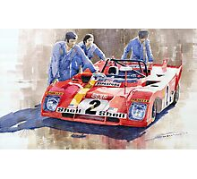 Ferrari 312 PB 1972 Daytona 6-hour winning  Photographic Print
