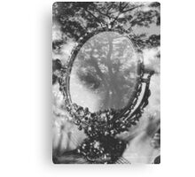 mirror and tree double exposure Canvas Print
