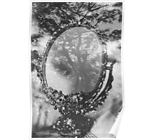 mirror and tree double exposure Poster