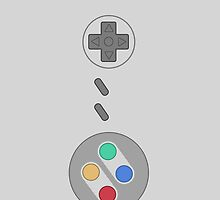 SNES Pad Iphone Case ! by vxspitter