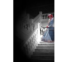 Ghostly lady on the staircase Photographic Print