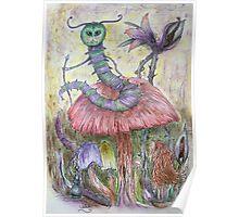 Caterpillar In Wonderland Poster