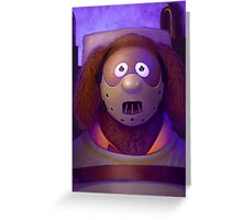 Muppet Maniac - Rowlf Lecter Greeting Card