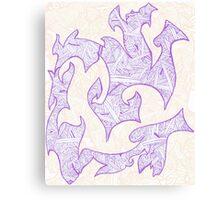 Tribal Waves of Yarn Canvas Print