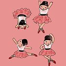 A Quartet of Ballerinas by Beatrice  Ajayi