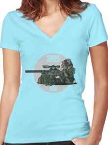SKOPE (OD Green) Women's Fitted V-Neck T-Shirt