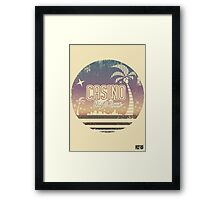 Sonic 2 - Casino Night Zone (Distressed) Framed Print