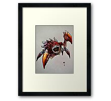 The Devil in the Dark Framed Print