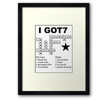 GOT7 Crossword Puzzle Framed Print