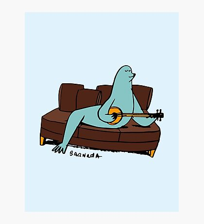 Seal it with a Banjo Song. Photographic Print