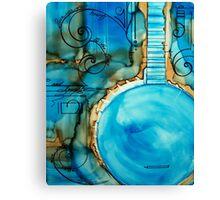 Blue Banjo Canvas Print