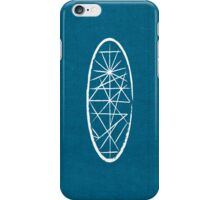 Blue Fabric Oval White iPhone Case/Skin