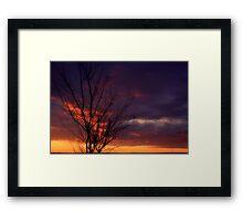 Winter Sunset on the Prairies 1 Framed Print