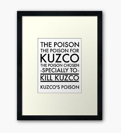 The Poison. in black Framed Print