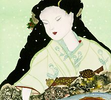 Christmas Snow, Kindness to All Beings by EllenCoffin