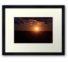 Winter Sunset on the Prairies 3 Framed Print
