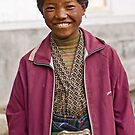 Tibetan girl in Zhangmu by Konstantinos Arvanitopoulos