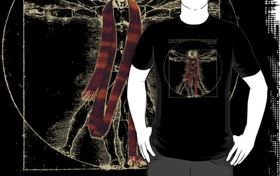 "Da Vinci Meets the Doctor - ""Reds"" (for Dark T-shirts) by TerryLightfoot"