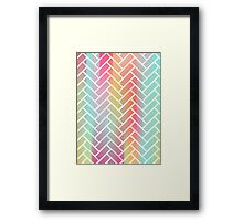 Rainbow Bricks Framed Print